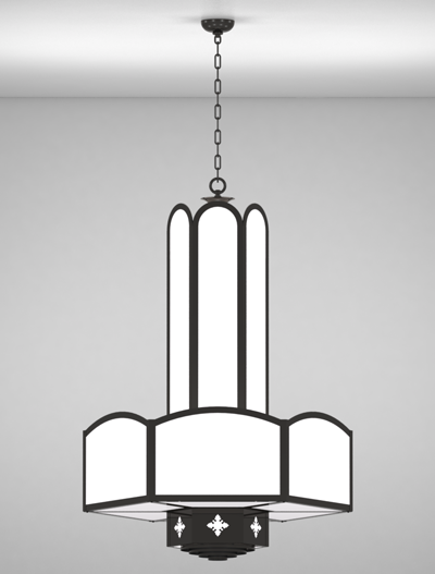 Randolph Series 3-Tier Large Pendant Church Lighting Fixture in Array Finish