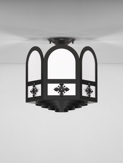 Randolph Series Ceiling Mount Church Lighting Fixture in Array Finish