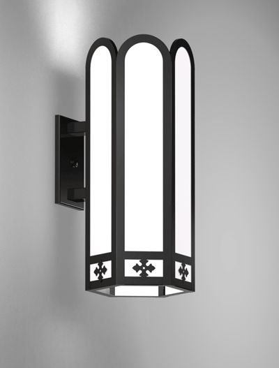 Randolph Series Wall Bracket Church Lighting Fixture in Array Finish