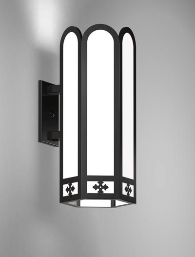Randolph Series Wall Bracket Church Lighting Fixture in Semi-Gloss Black Finish