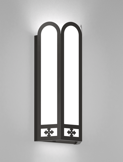 Randolph Series Wall Sconce Church Lighting Fixture in Array Finish