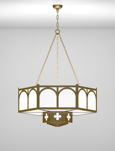 Roselle Series 2-Tier Large Pendant Church Lighting Fixture in Array Finish