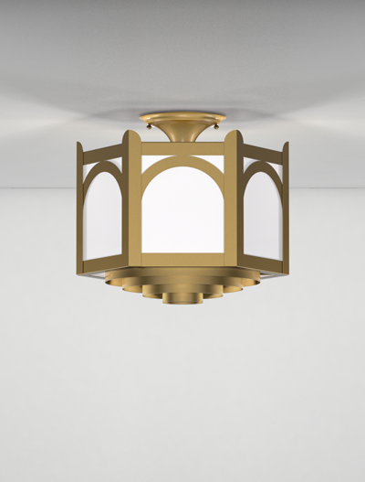 Roselle Series Ceiling Mount Church Lighting Fixture in Array Finish