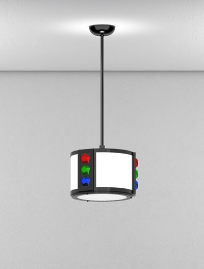 Rockford Series Short Pendant Church Lighting Fixture in Semi-Gloss Black Finish