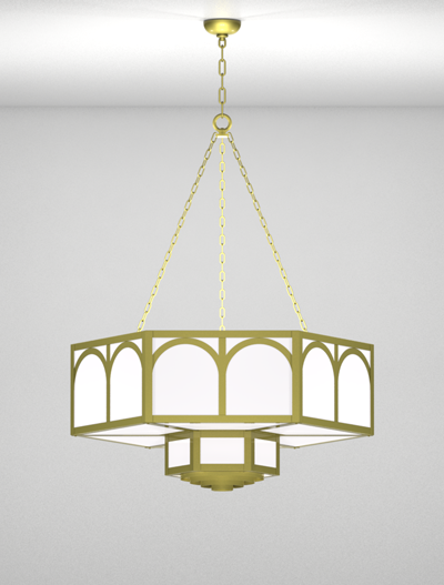 Raleigh Series 2-Tier Large Pendant Church Lighting Fixture in Array Finish