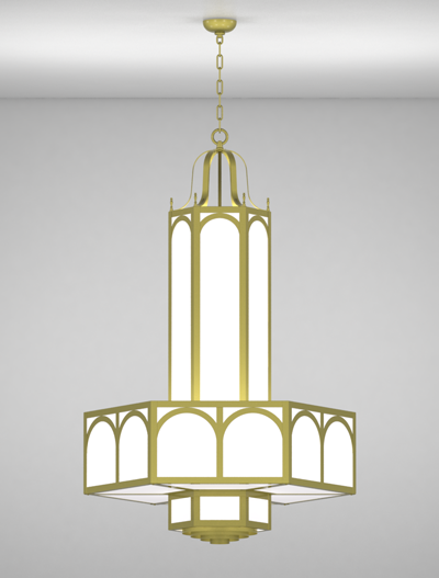Raleigh Series 3-Tier Large Pendant Church Lighting Fixture in Array Finish