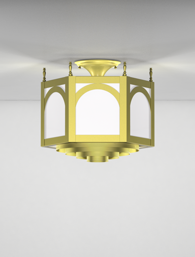 Raleigh Series Ceiling Mount Church Lighting Fixture in Array Finish