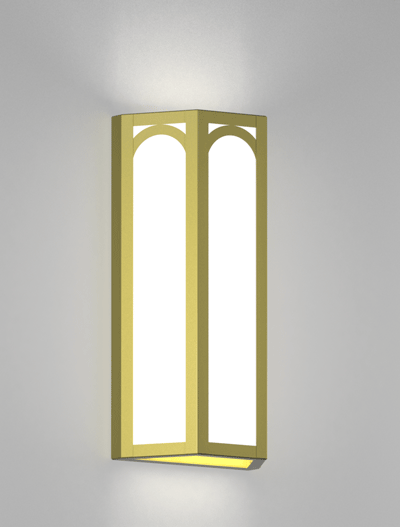 Raleigh Series Wall Sconce Church Lighting Fixture in Satin Brass Finish