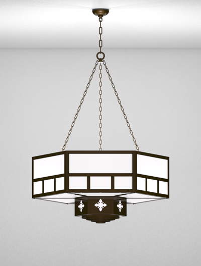 Richmond Series 2-Tier Large Pendant Church Lighting Fixture in Array Finish