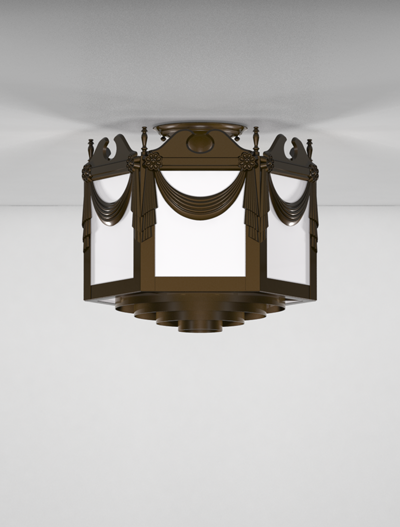 Richmond Series Ceiling Mount Church Lighting Fixture in Array Finish