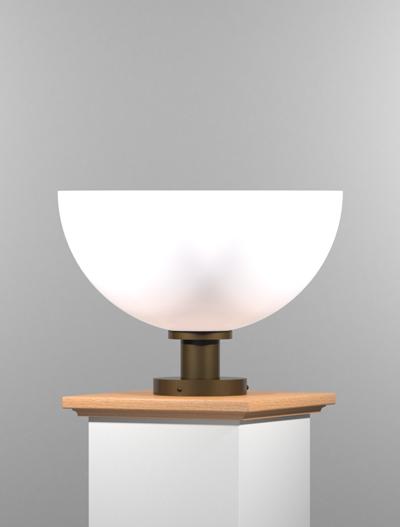 San Antonio Series Pedestal Mount Church Lighting Fixture in Duranodic 313 Finish