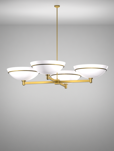 Sacramento Series 4-Arm Cluster Pendant Church Lighting Fixture in California Gold Finish