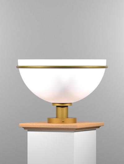 Sacramento Series Pedestal Mount Church Lighting Fixture in California Gold Finish