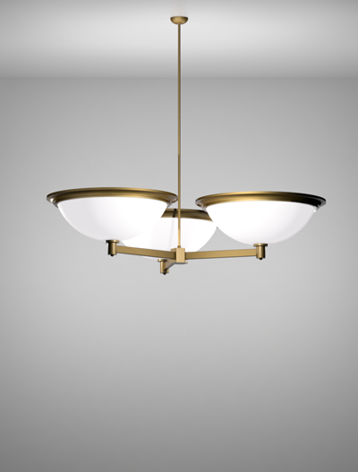 San Francisco Series 3-Arm Cluster Pendant Church Lighting Fixture in Array Finish