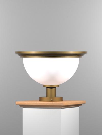 San Francisco Series Pedestal Mount Church Lighting Fixture in Roman Gold Finish