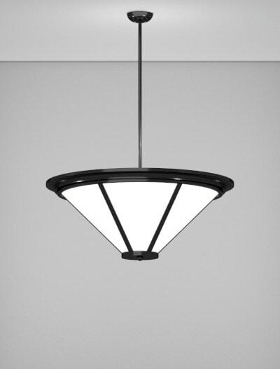 Spokane Series Pendant Church Lighting Fixture in Semi-Gloss Black Finish