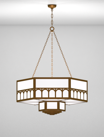 Taos Series 2-Tier Large Pendant Church Lighting Fixture in Array Finish