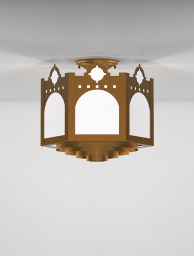 Taos Series Ceiling Mount Church Lighting Fixture in Array Finish