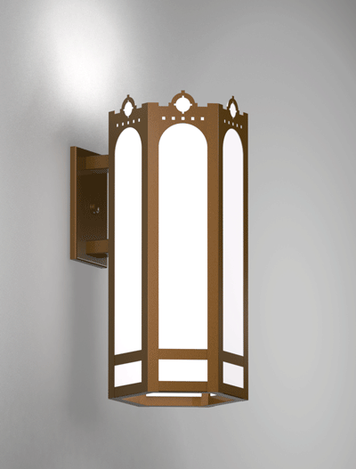 Taos Series Wall Bracket Church Lighting Fixture in Array Finish