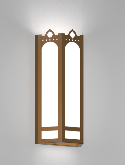 Taos Series Wall Sconce Church Lighting Fixture in Array Finish