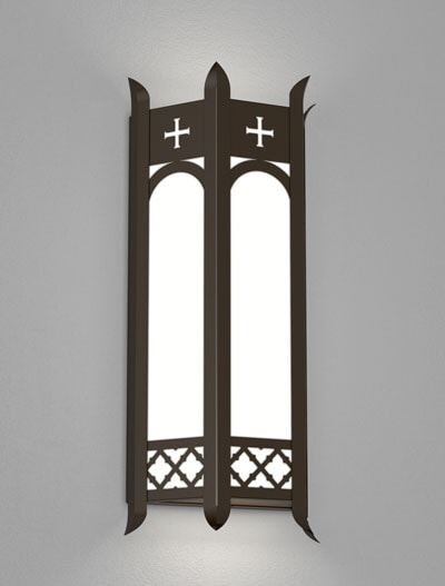 Venice Series Wall Sconce Church Lighting Fixture in Oil Rubbed Bronze Finish