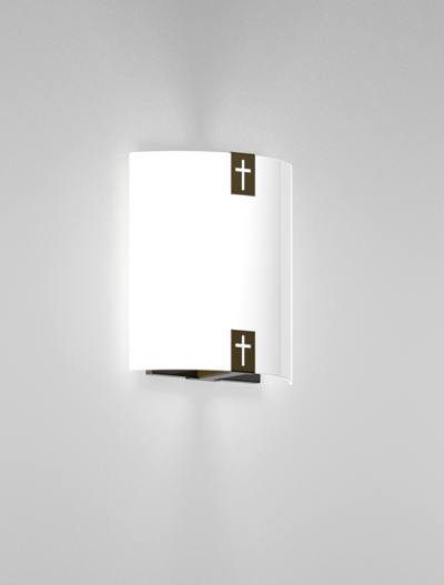 Woodstock Series Wall Sconce WS1050S Church Lighting Fixture in Duranodic 313 Finish
