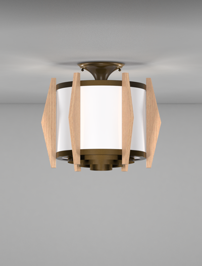 Wichita Series Ceiling Mount Church Lighting Fixture in Array Finish