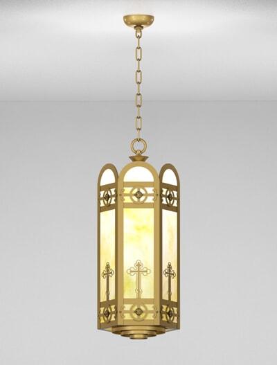 Custom Series  X0396 Church Lighting Fixture in Roman Gold Finish