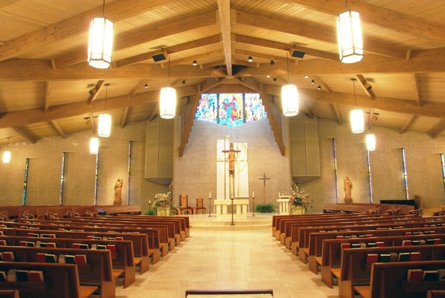 Before and After Lighting - All Saints Catholic Church