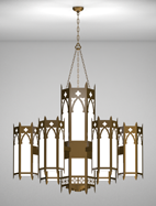 Cambridge Series 6-Arm Satellite Pendant Church Light Fixture