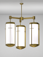 Cleveland Series 3-Arm Cluster Pendant Church Light Fixture