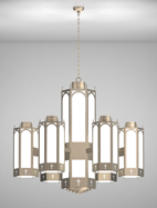Charleston Series 6-Arm Satellite Pendant Church Light Fixture