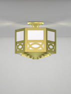 Dover Series Ceiling Mount Church Light Fixture