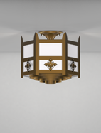 Easton Series Ceiling Mount Church Light Fixture