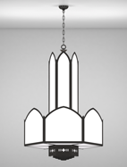 Gainesville Series 3-Tier Large Pendant Church Light Fixture