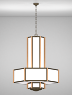 Hampton Series 3-Tier Large Pendant Church Light Fixture