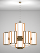 Hampton Series 6-Arm Satellite Pendant Church Light Fixture
