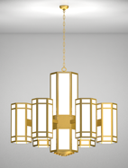 Hebron Series 6-Arm Satellite Pendant Church Light Fixture