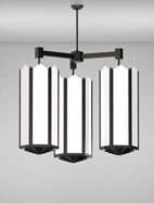 Hancock Series 3-Arm Cluster Pendant Church Light Fixture