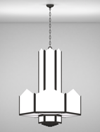 Hancock Series 3-Tier Large Pendant Church Light Fixture