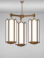 Hammond Series 3-Arm Cluster Pendant Church Light Fixture