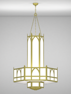 Hagerstown Series 3-Tier Large Pendant Church Light Fixture