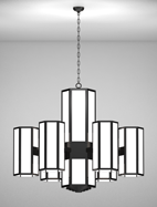 Houston Series 6-Arm Satellite Pendant Church Light Fixture