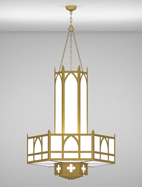 Ipswich Series 3-Tier Large Pendant Church Light Fixture