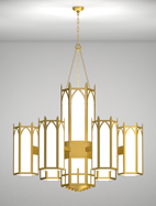 Ipswich Series 6-Arm Satellite Pendant Church Light Fixture