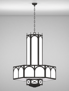 Jamestown Series 3-Tier Large Pendant Church Light Fixture