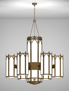 Lancaster Series 6-Arm Satellite Pendant Church Light Fixture