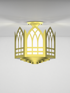 Norwich Series Ceiling Mount Church Light Fixture