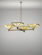 Oak Park Series 4-Arm Cluster Pendant Church Light Fixture
