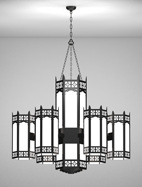 Oxford Series 6-Arm Satellite Pendant Church Light Fixture